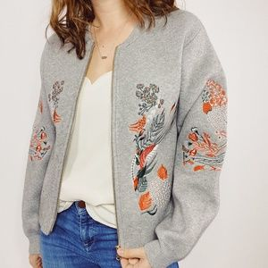 Aratta Silent Journey Embroidered Sweater Jacket